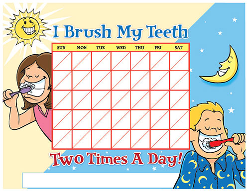 Color Brushing Chart for Children - Pediatric Dentist in Sandpoint, ID
