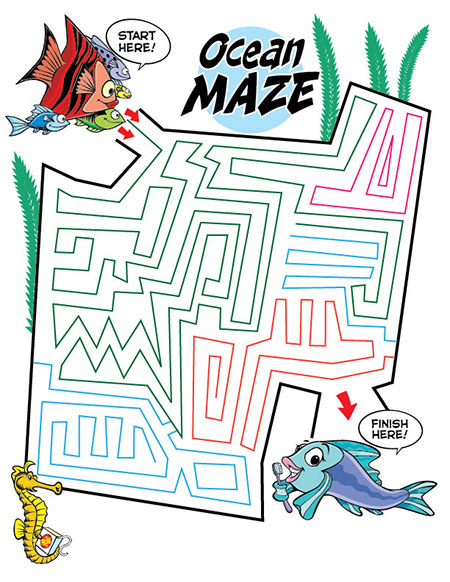 Ocean Maze Activity Sheet - Pediatric Dentist in Sandpoint, ID